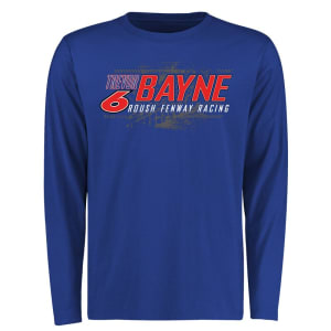 Trevor Bayne Burn Rubber Logo Long Sleeve T-Shirt - Royal