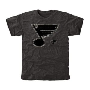 Men's St. Louis Blues Black Rink Warrior Tri-Blend T-Shirt
