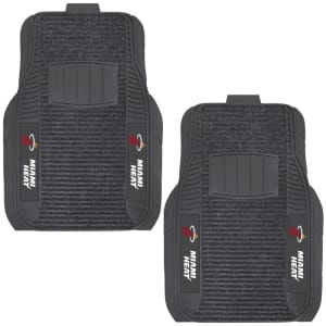 Miami Heat Two-Piece Deluxe Car Mat Set