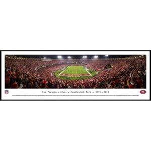 "San Francisco 49ers 40.25"" x 13.75"" Candlestick Park Standard Framed Panoramic Photo"