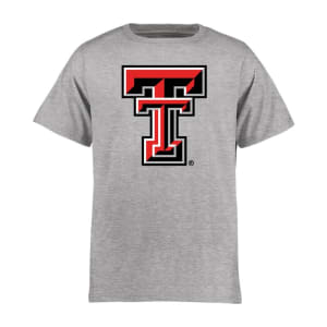 Texas Tech Red Raiders Youth Classic Primary T-Shirt - Ash