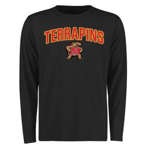 Maryland Terrapins Proud Mascot Long Sleeve T-Shirt - Black -
