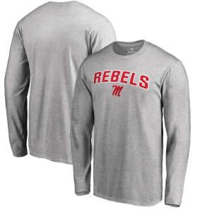 Ole Miss Rebels Proud Mascot Long Sleeve T-Shirt - Ash