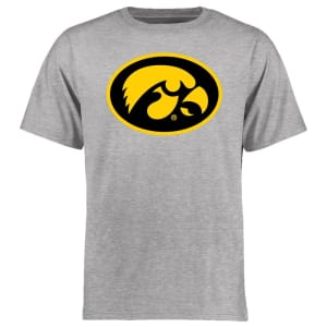 Iowa Hawkeyes Big & Tall Classic Primary T-Shirt - Ash