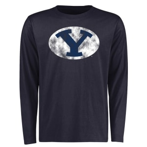 BYU Cougars Big & Tall Classic Primary Long Sleeve T-Shirt - Navy