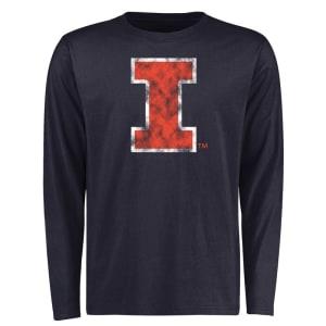 Illinois Fighting Illini Big & Tall Classic Primary Long Sleeve T-Shirt - Navy