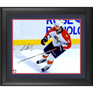 """Aaron Ekblad Florida Panthers Fanatics Authentic Framed Autographed 16"""" x 20"""" White Jersey Skating Photograph"""