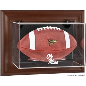Ole Miss Rebels Fanatics Authentic Brown Framed Logo Wall-Mountable Football Display Case