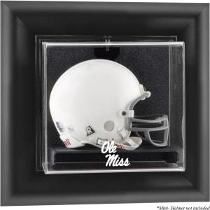 Ole Miss Rebels Fanatics Authentic Black Framed Logo Wall-Mountable Mini Helmet Display Case