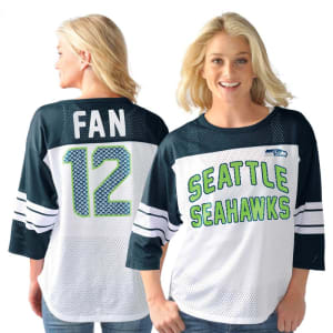 12s Seattle Seahawks G-III Sports by Carl Banks Women's Play Action Name & Number Top - White
