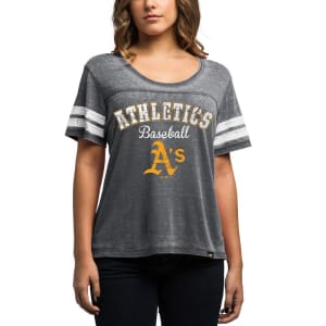Oakland Athletics Majestic Women's Loving the Game T-Shirt - Charcoal