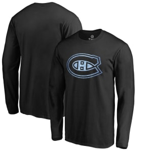 Montreal Canadiens Pond Hockey Long Sleeve T-Shirt - Black