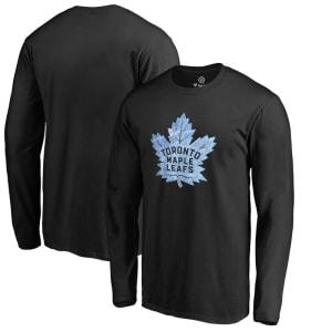 Toronto Maple Leafs Pond Hockey Long Sleeve T-Shirt - Black