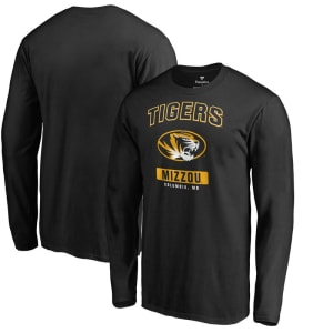 Missouri Tigers Campus Icon Long Sleeve T-Shirt - Black