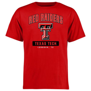 Texas Tech Red Raiders Campus Icon T-Shirt - Red
