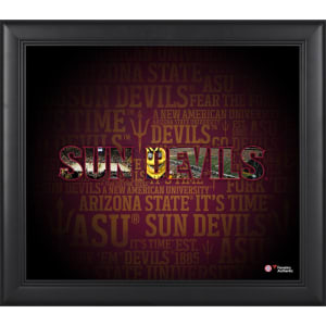 Arizona State Sun Devils Fanatics Authentic Framed 15'' x 17'' Team Heritage Collage