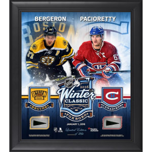2016 Bridgestone NHL Winter Classic Montreal Canadiens vs. Boston Bruins Fanatics Authentic Framed 15'' x 17'' Match-Up Collage with Pieces of Game-Used Puck