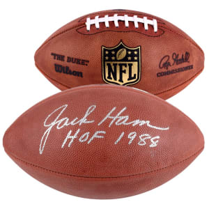 "Jack Ham Pittsburgh Steelers Fanatics Authentic Autographed Pro Football with ""HOF 1988"" Inscription"