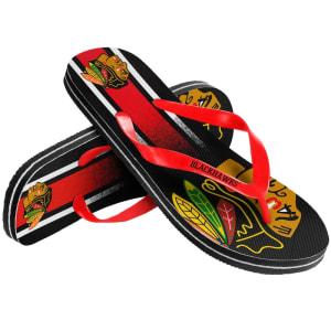 Chicago Blackhawks Gradient Flip Flops