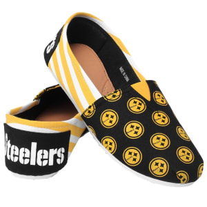Pittsburgh Steelers Women's Canvas Stripe Shoes