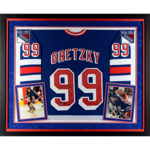 Wayne Gretzky New York Rangers Upper Deck Deluxe Framed Autographed Blue CCM Replica Jersey - Upper Deck