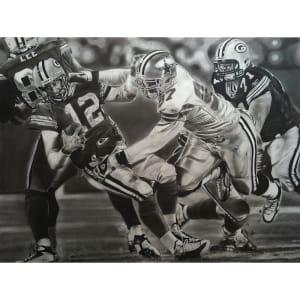 "Dallas Cowboys vs. Green Bay Packers Deacon Jones Foundation 25"" x 32"" Gotcha Dueling Giclee on Canvas"