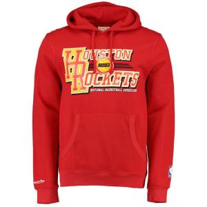 Houston Rockets Mitchell & Ness Team Practice Hoodie - Red