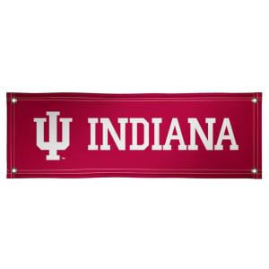 Indiana Hoosiers 2' x 6' Vinyl Banner - Crimson