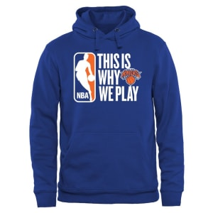 New York Knicks This Is Why We Play Pullover Hoodie - Royal