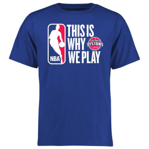 Detroit Pistons This Is Why We Play T-Shirt - Royal