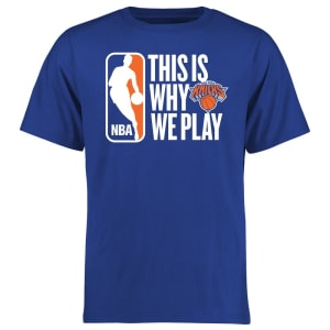 New York Knicks This Is Why We Play T-Shirt - Royal