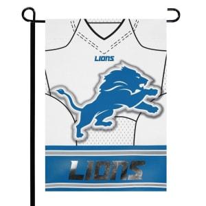 """Detroit Lions 12.5"""" x 18"""" Double-Sided Jersey Foil Garden Flag"""