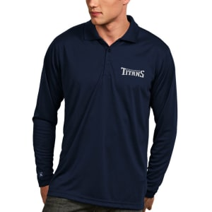 Tennessee Titans Antigua Exceed Desert Dry X-tra Lite Long Sleeve Polo - Navy