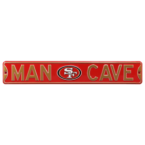"San Francisco 49ers 6"" x 36"" Man Cave Steel Street Sign - Red"