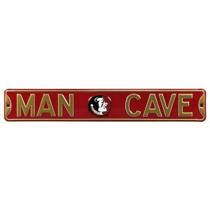 "Florida State Seminoles 6"" x 36"" Man Cave Steel Street Sign - Garnet"