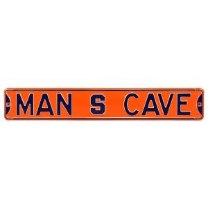"""Syracuse Orange 6"""" x 36"""" Man Cave Steel Street Sign - Orange"""