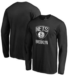 Brooklyn Nets Primary Logo Long Sleeve T-Shirt - Black