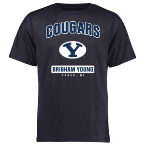 BYU Cougars Big & Tall Campus Icon T-Shirt - Navy