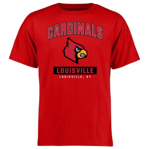 Louisville Cardinals Big & Tall Campus Icon T-Shirt - Red