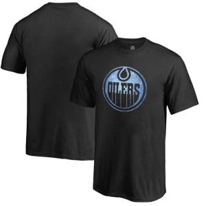 Edmonton Oilers Youth Pond Hockey T-Shirt - Black