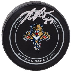 Nick Bjugstad Florida Panthers Fanatics Authentic Autographed Old Logo Official Game Puck