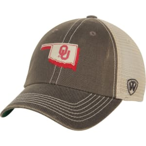 Oklahoma Sooners Top of the World United Trucker Adjustable Snapback Hat - Charcoal