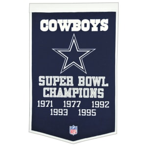 "Dallas Cowboys 24"" x 38"" Dynasty Wool Banner"