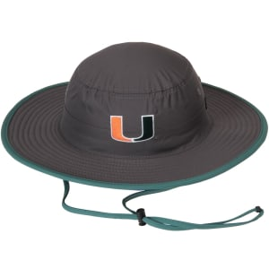 Miami Hurricanes Top of the World Chili Dip Boonie Bucket Hat - Charcoal