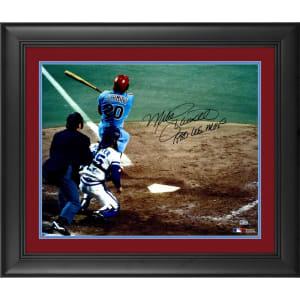 "Mike Schmidt Philadelphia Phillies Fanatics Authentic Framed Autographed 16"" x 20"" 1980 World Series Home Run Photograph with ""1980 WS MVP"" Inscription"