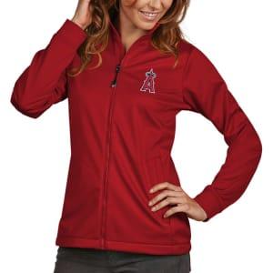 Los Angeles Angels Antigua Women's Golf Full-Zip Jacket - Red