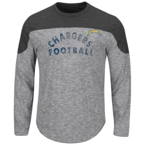Los Angeles Chargers Majestic Corner Blitz Long Sleeve T-Shirt - Gray