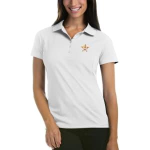 Houston Astros Antigua Women's Pique Xtra-Lite Polo - White