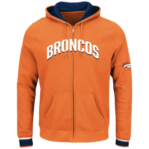 Denver Broncos Majestic Anchor Point Full-Zip Hoodie - Orange