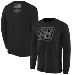 Kyle Busch Digi Camo Battallion Long Sleeve T-Shirt - Black